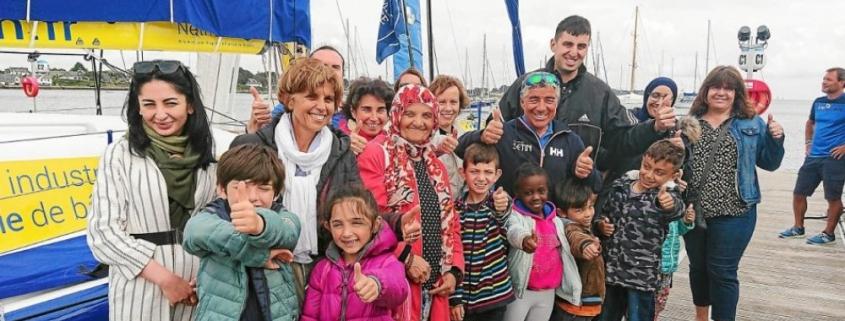 La Trinité-sur-Mer – Armen Race Uship. Les enfants de l'école Françoise-d'Amboise en visite