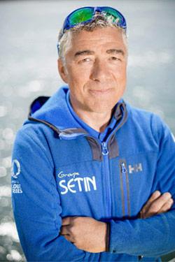 Manuel Cousin, skipper le l'IMOCA Groupe Sétin